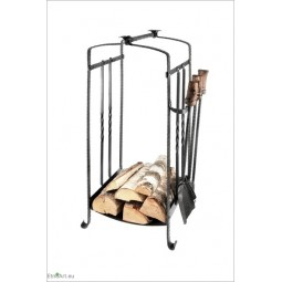 Wood Holder With 3 toolsFireplace Tools