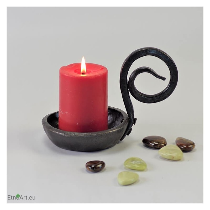 Iron Candle Holder ``Koch``Candlesticks on the table