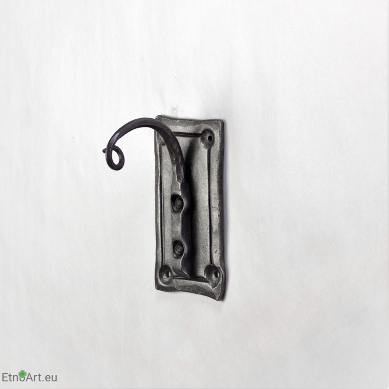Wrought iron wall hookHolder for flowers