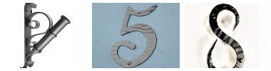 House numbers and Flag holders