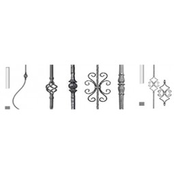 Shaped and plain balusters